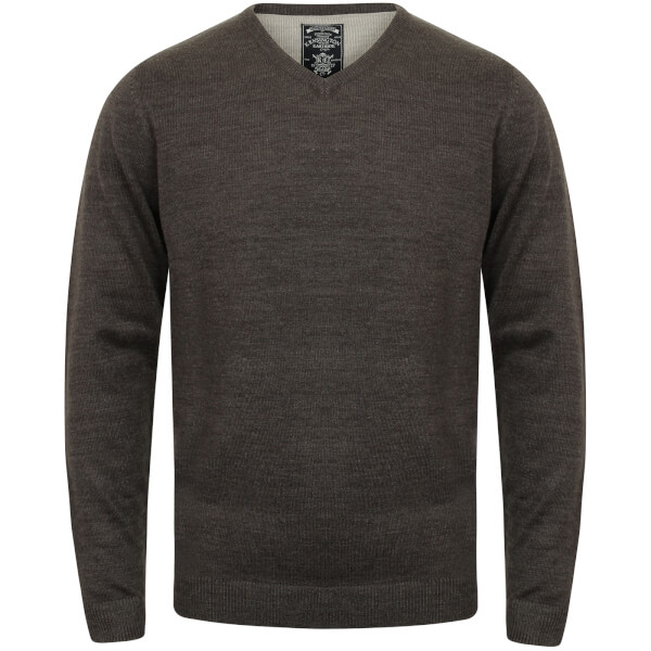 Kensington Men's Basic V Neck Jumper - Charcoal Marl