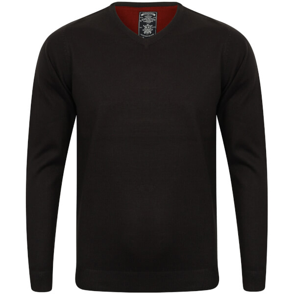 Kensington Men's Basic V Neck Jumper - Dark Navy