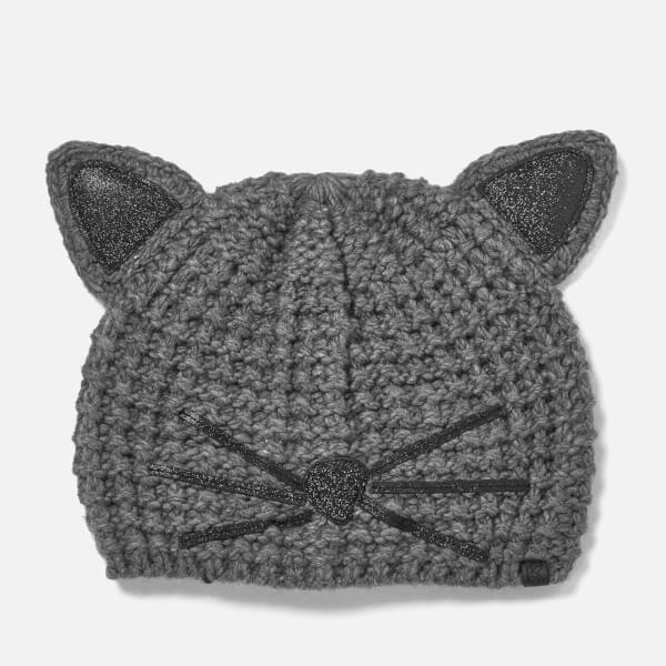 Karl Lagerfeld Women's Choupette Luxury Beanie - Mouse Grey