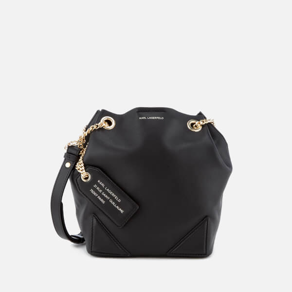 Karl Lagerfeld Women's K/Slouchy Small Drawstring Bag - Black