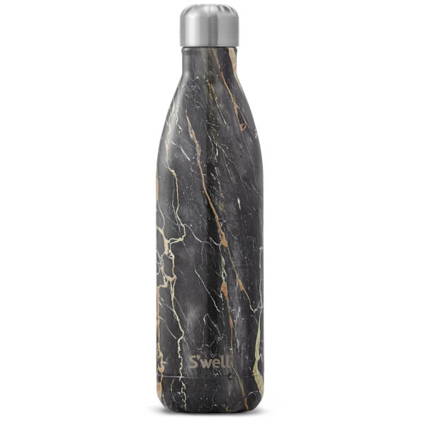 S Well The Bahamas Gold Marble Water Bottle 750ml Homeware