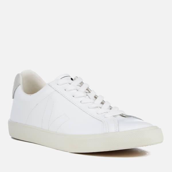 0228d91ed0d8d Veja Men s Esplar Leather Low Top Trainers - Extra White  Image 2