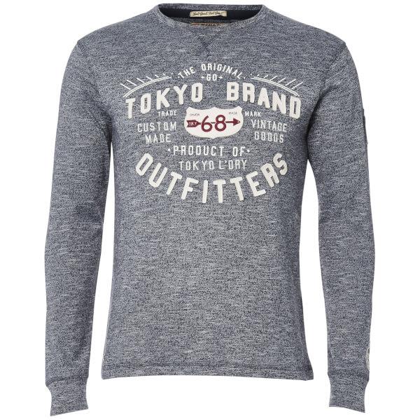 Tokyo Laundry Men's Timperley Jersey Long Sleeve Top - Dark Navy