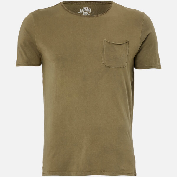 Tokyo Laundry Men's Hella Cotton Jersey T-Shirt - Burnt Olive