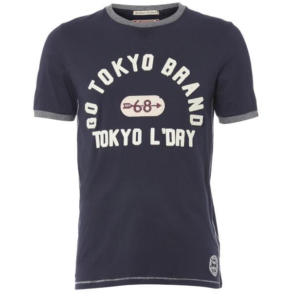 Tokyo Laundry Men's Winterfield Jersey T-Shirt - Dark Navy