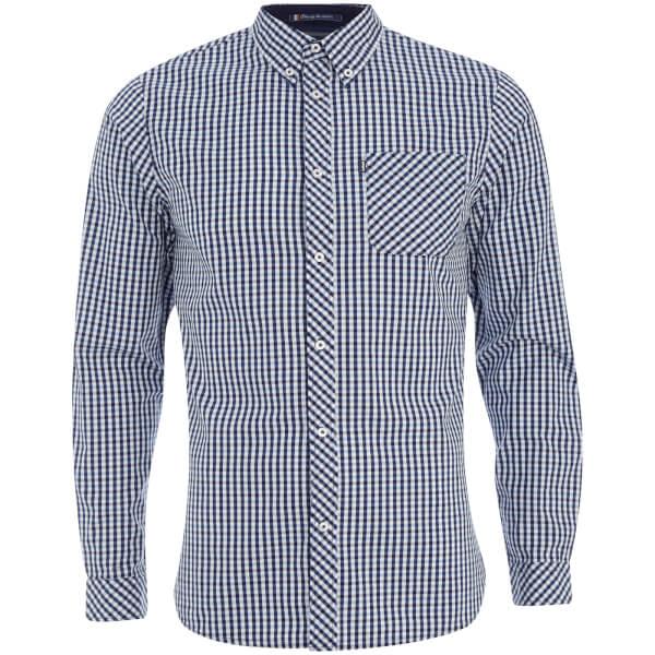 Le Shark Men's Pembridge Gingham Long Sleeve Shirt - Dark Blue