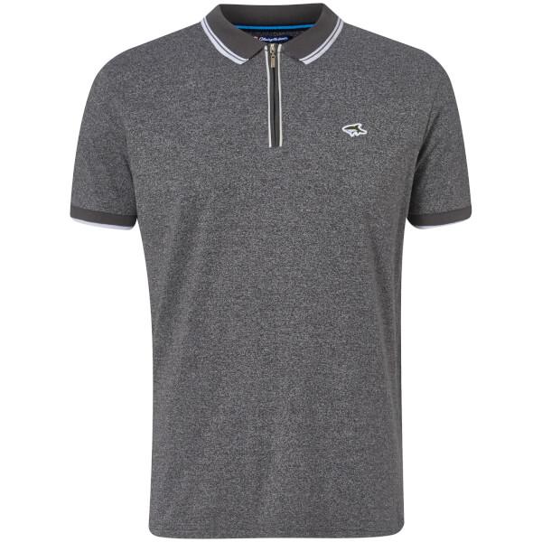 Le Shark Men\u0027s Holmdale Zip Polo Shirt - Asphalt