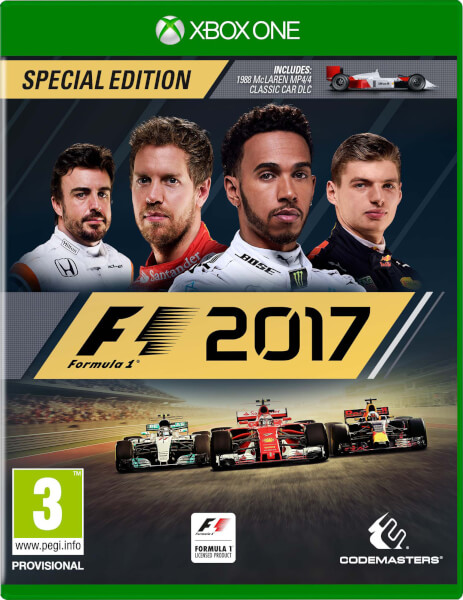 f1 2017 special edition xbox one zavvi. Black Bedroom Furniture Sets. Home Design Ideas