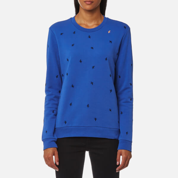 BOSS Orange Women's Tabirdy Sweatshirt - Bright Blue: Image 1