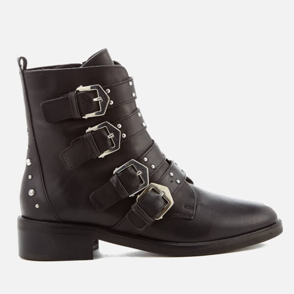 Carvela Women's Scant Leather Biker Boots - Black: Image 1