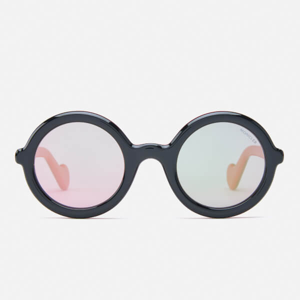 Moncler Women's Round Frame Sunglasses - Black