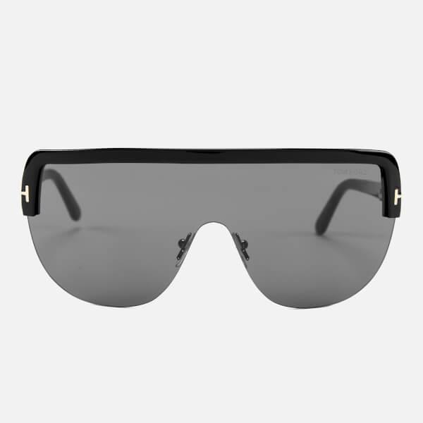 Tom Ford Women's Angus Sunglasses - Shiny Black/Smoke