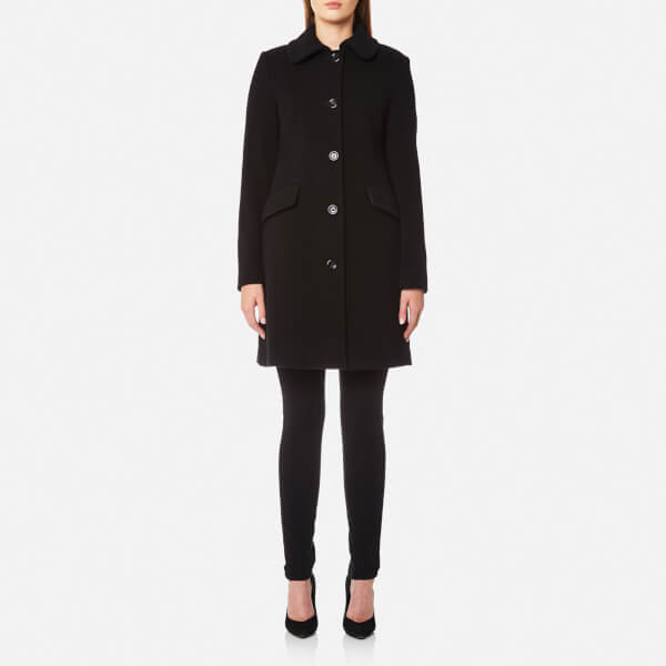 Love Moschino Women's Coat with Heart Ring Detail on Back - Black