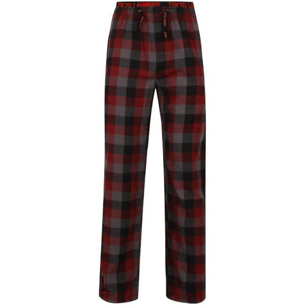 Tokyo Laundry Men's Kenning Check Lounge Pants - Red