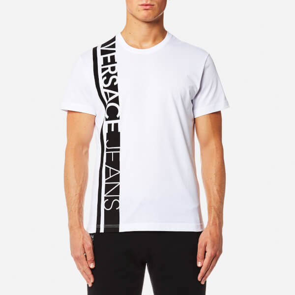 Versace Jeans Men's Stripe Logo T-Shirt - Bianco