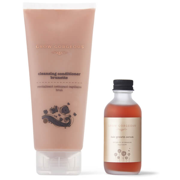 Grow Gorgeous Hair Density Serum and Cleansing Conditioner Brunette Prismatic (Worth £50)