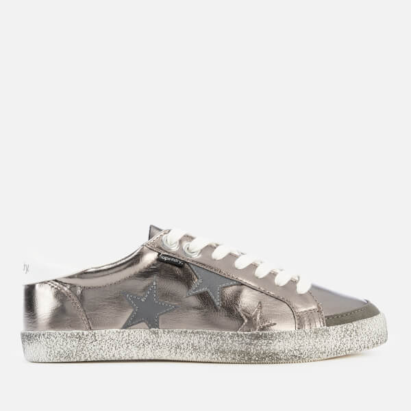 Superdry Women's Super Sleek Logo Lo Trainers - Pewter