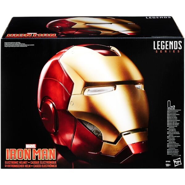 Casque Électronique The Avengers Marvel Legends - Iron Man (Taille Réelle)