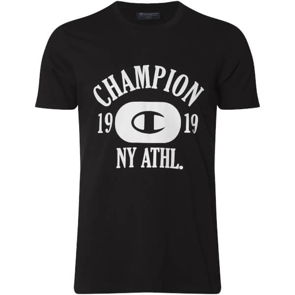 Champion Men's NY Athletic T-Shirt - Black