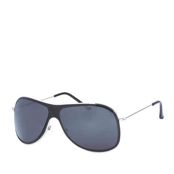 Men's Wrap Sunglasses - Black/Silver