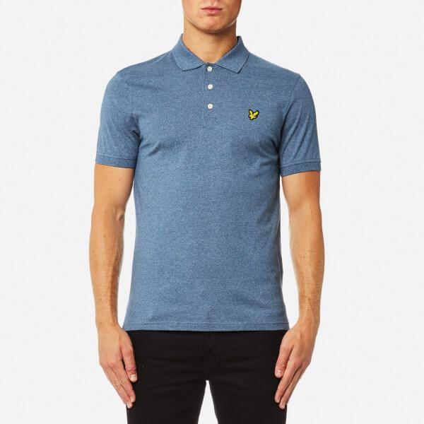 Lyle & Scott Men's 3 Colour Mouline Polo Shirt - Blue Steel