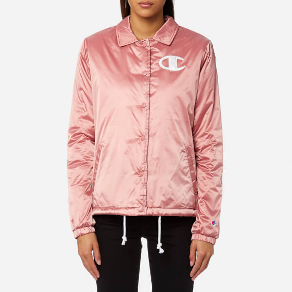 Champion Women s Coach Jacket - Pink Womens Clothing  76b956e4df