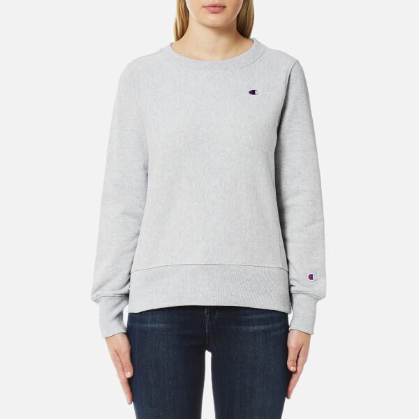 Champion Women s Crew Neck Sweatshirt - Grey Womens Clothing ... 4850c464fa