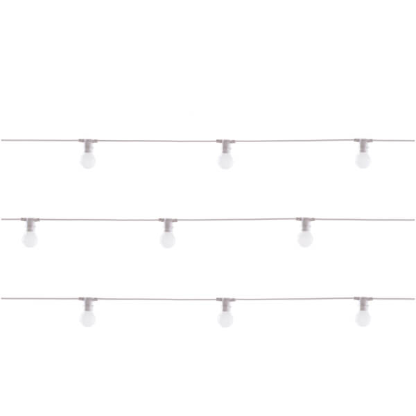Seletti Bella Vista Outdoor LED Lights - White Wire (Set of 10)