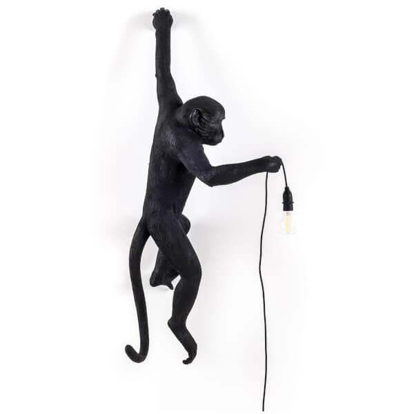 Seletti Hanging Monkey Lamp - Black