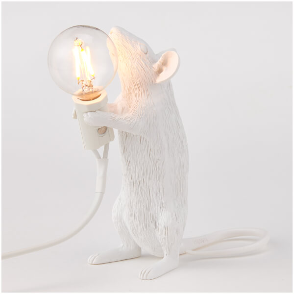 Seletti Standing Mouse Lamp - White