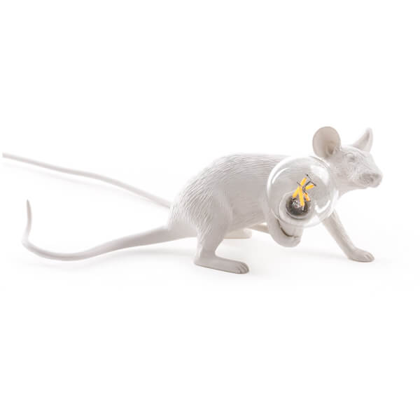 Seletti Lying Mouse Lamp - White
