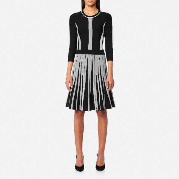 Karl Lagerfeld Women's Rib Dress - Black/White