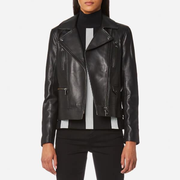 Karl Lagerfeld Women's Ikona Odina Biker Jacket - Black