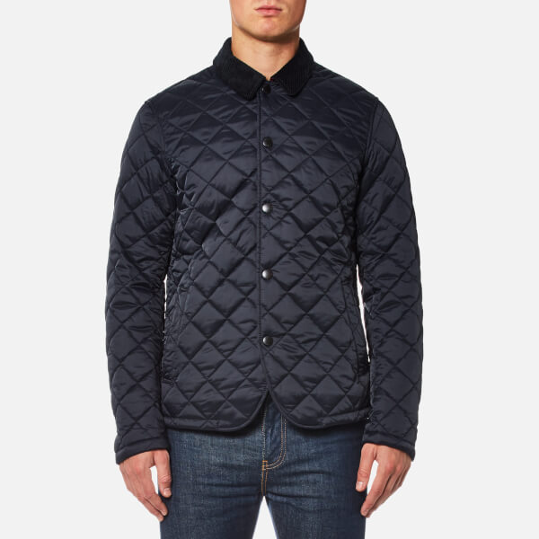 Barbour Men's Drill Quilted Jacket - Navy