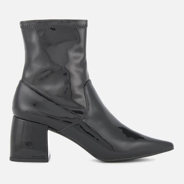 Senso Women's Simone Patent Leather Heeled Boots - Ebony
