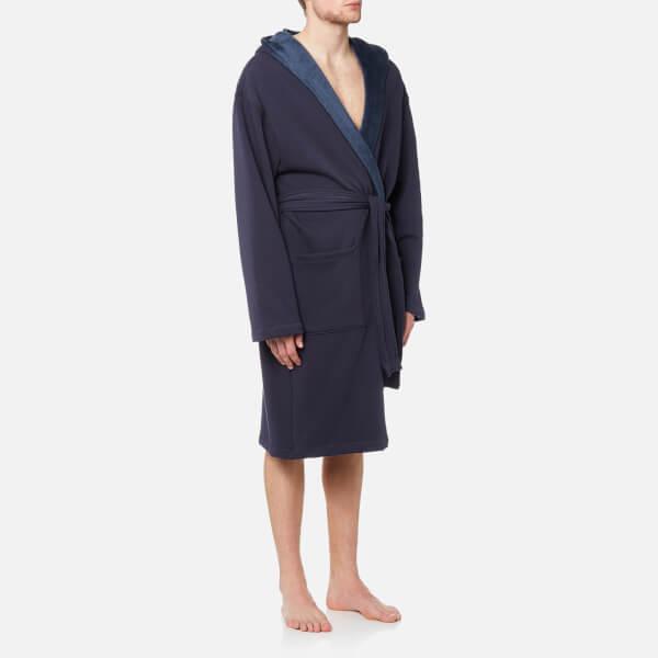 UGG Australia Men s Brunswick Heritage Robe - Navy Clothing  e23a79966