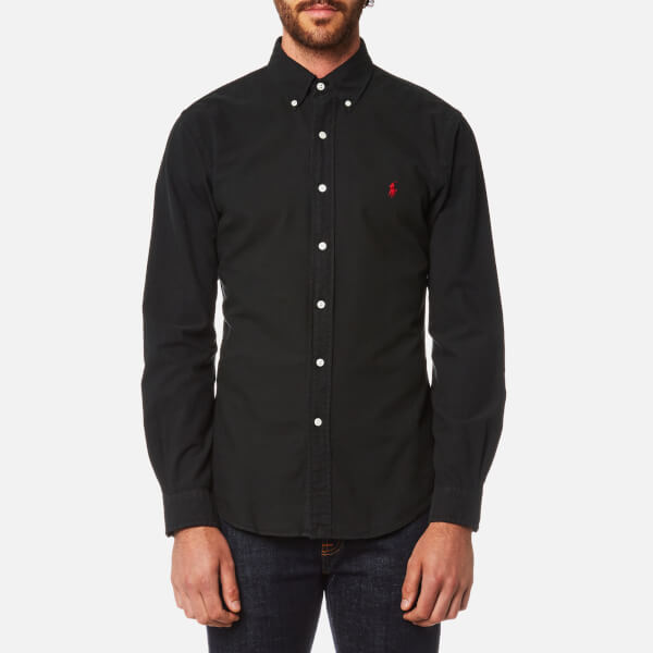 Polo Ralph Lauren Men's Garment Dye Oxford Shirt - RL Black - Free ...