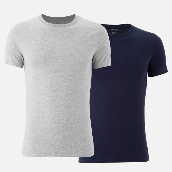 Polo Ralph Lauren Men's 2 Pack Crew Neck T-Shirts - Navy Grey