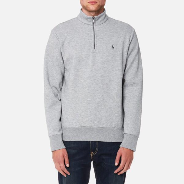 Polo Ralph Lauren Men's Half Zip Double Knitted Sweatshirt - Andover Heather:  Image 1