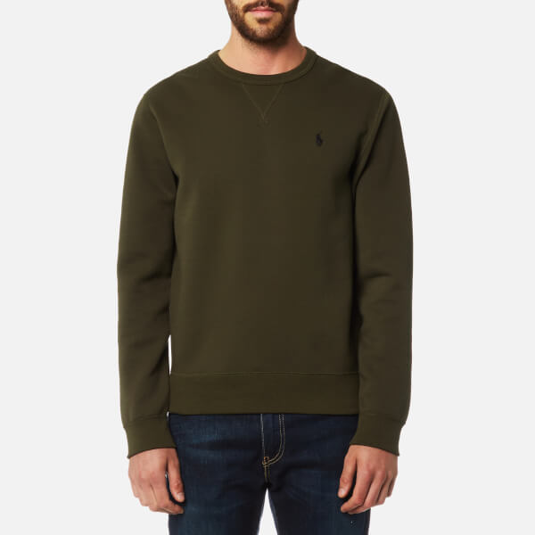 Polo Ralph Lauren Men's Double Knitted Crew Neck Sweatshirt - Company Olive:  Image 1