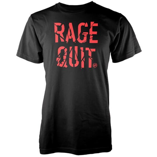 Gaming Rage Quit Men's Black T-Shirt