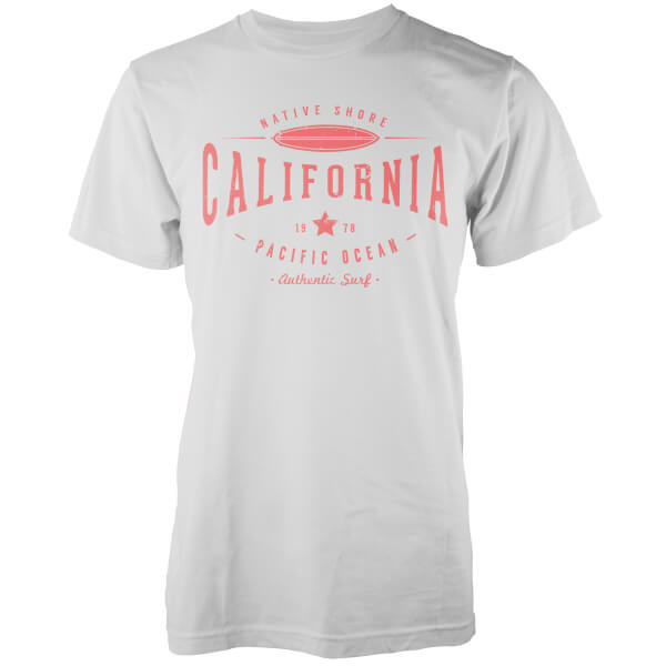 T-Shirt Homme Cali 1978 Native Shore - Blanc