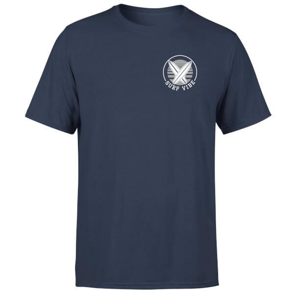 T-Shirt Homme Surf Vibe Poche Imprimée Native Shore - Bleu Marine
