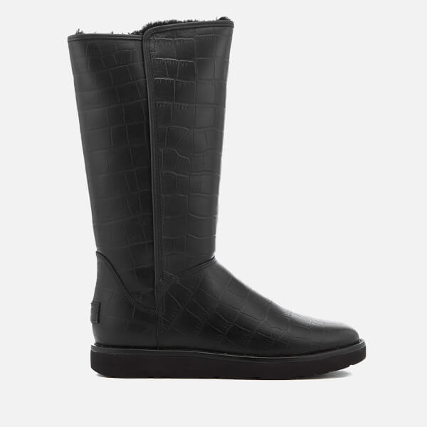 UGG Women's Abree II Classic Luxe Croc Leather Tall Boots - - UK 4.5 UwmbwYY