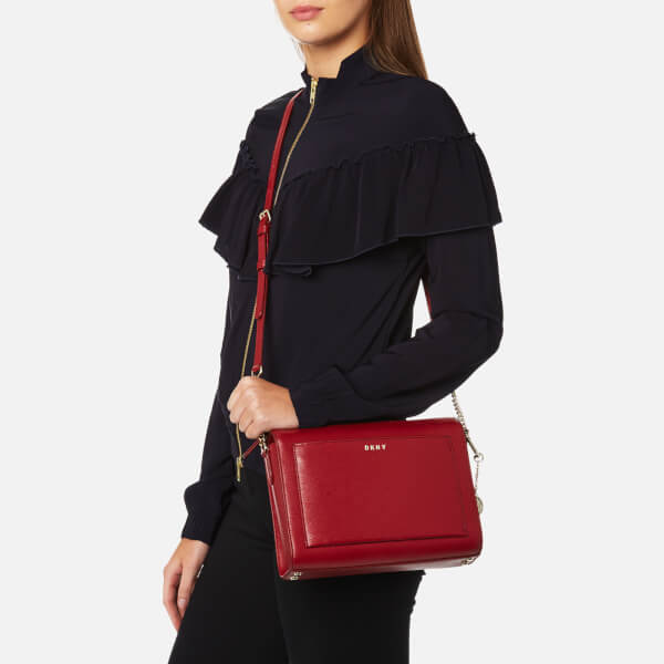 ba83ab565a6a DKNY Women s Sutton Medium Box Cross Body Bag - Scarlet Red  Image 3