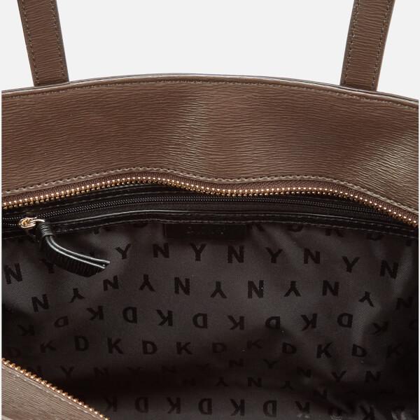 DKNY Women s Coated Logo Medium Tote Bag - Brown Logo  Image 5 0c8026d323568
