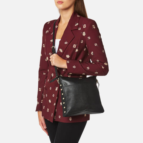 acf1efeacac DKNY Women s Chelsea Pebbled Leather Top Zip Cross Body Bag - Black  Image 3