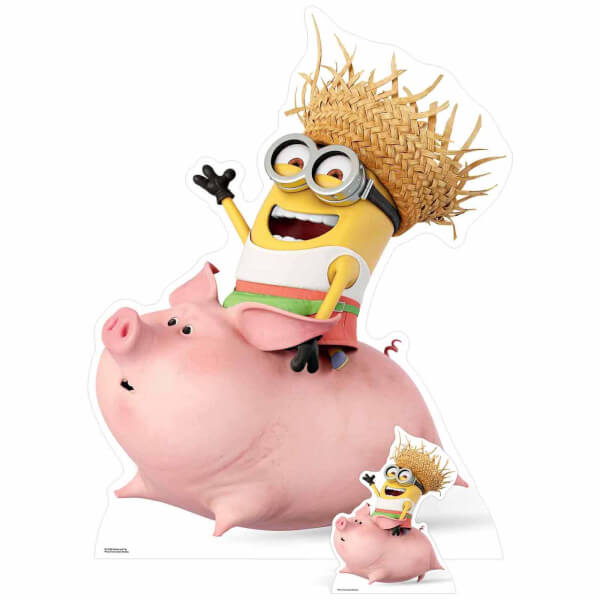 Despicable Me 3: Minion Riding a Pig Over-Sized Cut Out