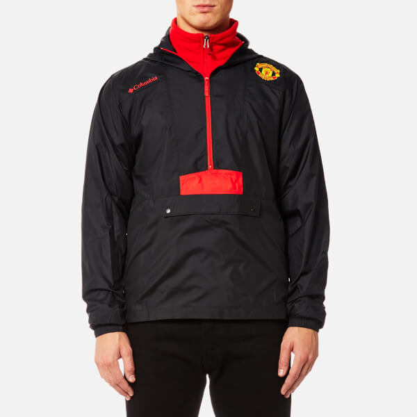 4f758b2807a Columbia Men s Manchester United Flashback Windbreaker Pullover - Black