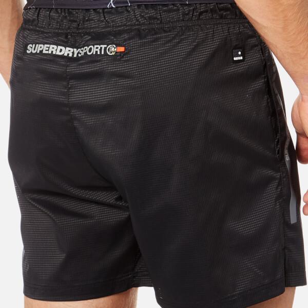 Superdry Sport Men s Core Training Running Shorts - Black Ripstop  Image 5 c95de69ba1ba